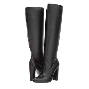 New Steve Madden Eaton Black Leather Boots